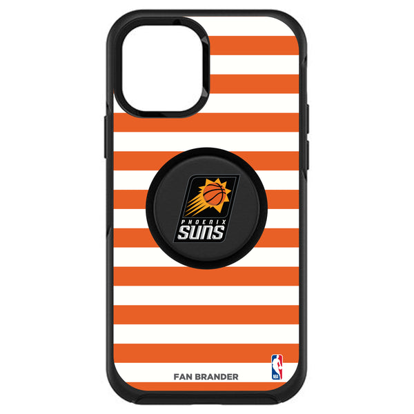 OtterBox Otter + Pop symmetry Phone case with Phoenix Suns Primary Logo with Stripes