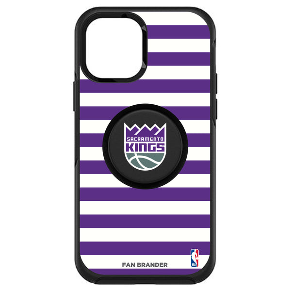OtterBox Otter + Pop symmetry Phone case with Sacramento Kings Primary Logo with Stripes