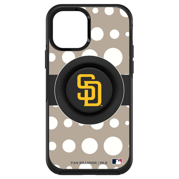 OtterBox Otter + Pop symmetry Phone case with San Diego Padres Polka Dots design