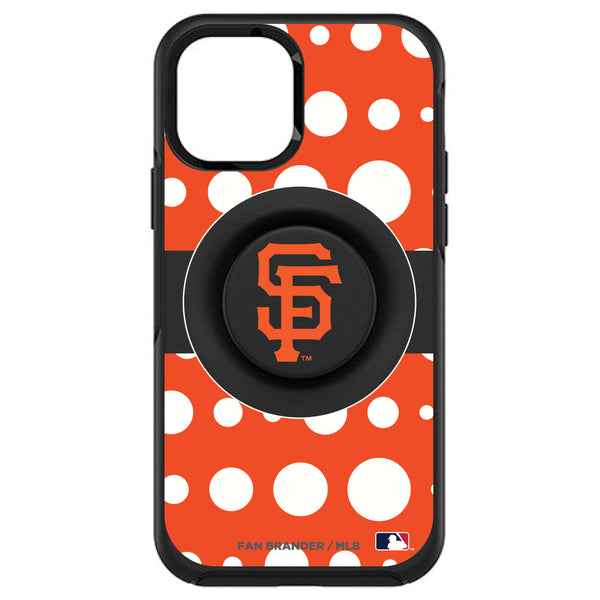OtterBox Otter + Pop symmetry Phone case with San Francisco Giants Polka Dots design