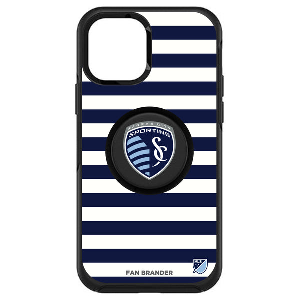 OtterBox Otter + Pop symmetry Phone case with Sporting Kansas City Primary Logo with Stripes