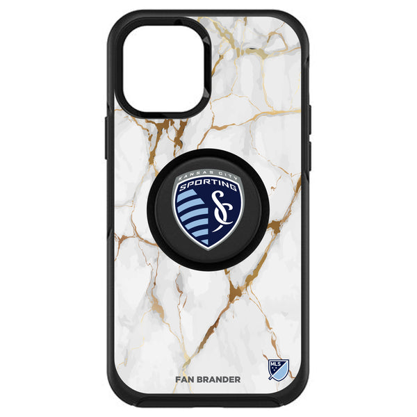 OtterBox Otter + Pop symmetry Phone case with Sporting Kansas City White Marble design