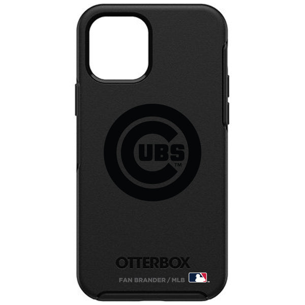 OtterBox Black Phone case with Chicago Cubs Primary Logo in Black