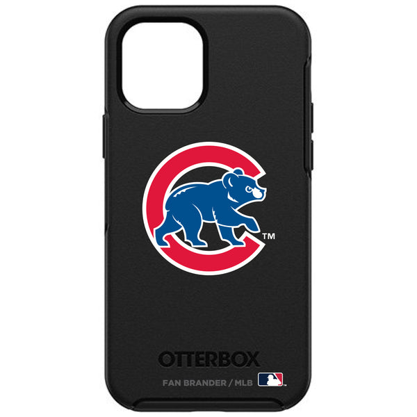 OtterBox Black Phone case with Chicago Cubs Secondary Logo