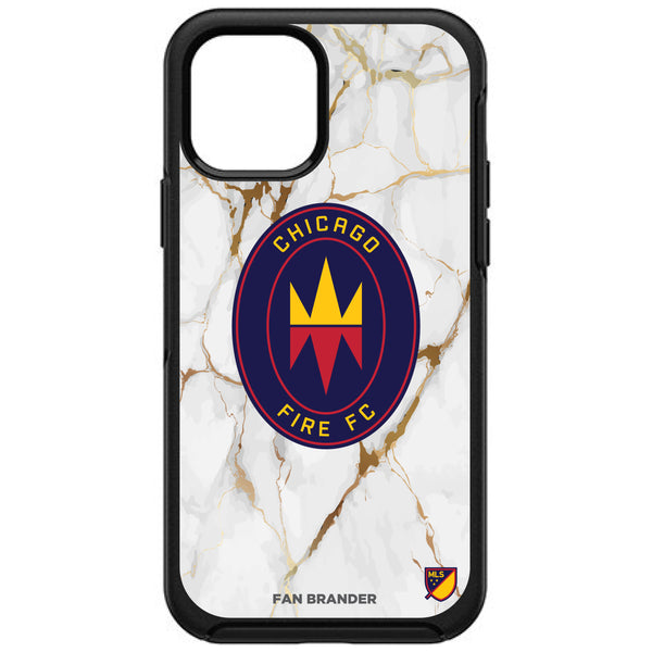 OtterBox Black Phone case with Chicago Fire White Marble Design