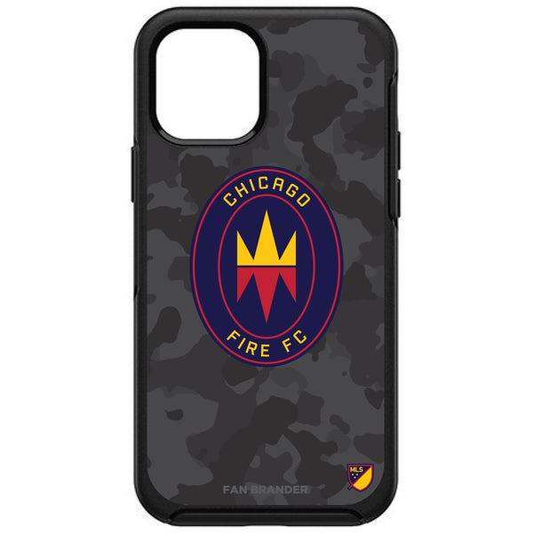 OtterBox Black Phone case with Chicago Fire Urban Camo Design