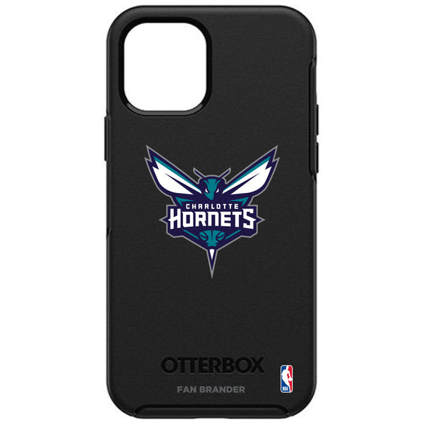 OtterBox Black Phone case with Charlotte Hornets Primary Logo