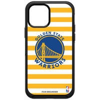 OtterBox Black Phone case with Golden State Warriors Primary Logo and Striped Design