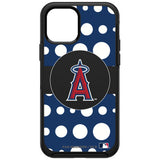 OtterBox Black Phone case with Los Angeles Angels Primary Logo and Polka Dots Design