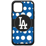 OtterBox Black Phone case with Los Angeles Dodgers Primary Logo and Polka Dots Design
