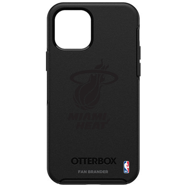 OtterBox Black Phone case with Miami Heat Primary Logo in Black