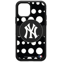 OtterBox Black Phone case with New York Yankees Primary Logo and Polka Dots Design
