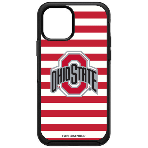 OtterBox Black Phone case with Ohio State Buckeyes Primary Logo and Striped Design