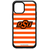 OtterBox Black Phone case with Oklahoma State Cowboys Primary Logo and Striped Design
