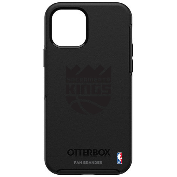 OtterBox Black Phone case with Sacramento Kings Primary Logo in Black