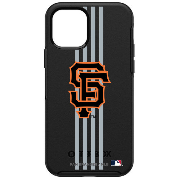 OtterBox Black Phone case with San Francisco Giants Primary Logo and Vertical Stripe
