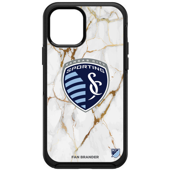 OtterBox Black Phone case with Sporting Kansas City White Marble Design