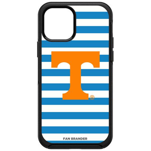 OtterBox Black Phone case with Tennessee Vols Primary Logo and Striped Design