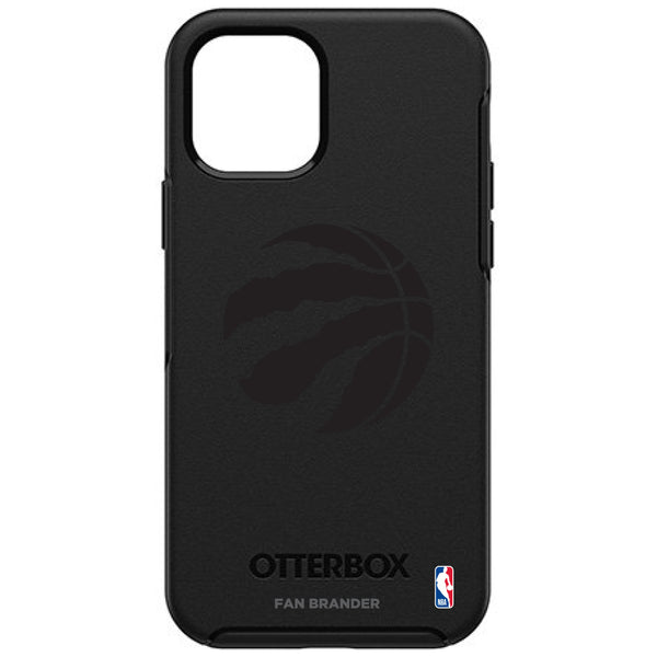 OtterBox Black Phone case with Toronto Raptors Primary Logo in Black