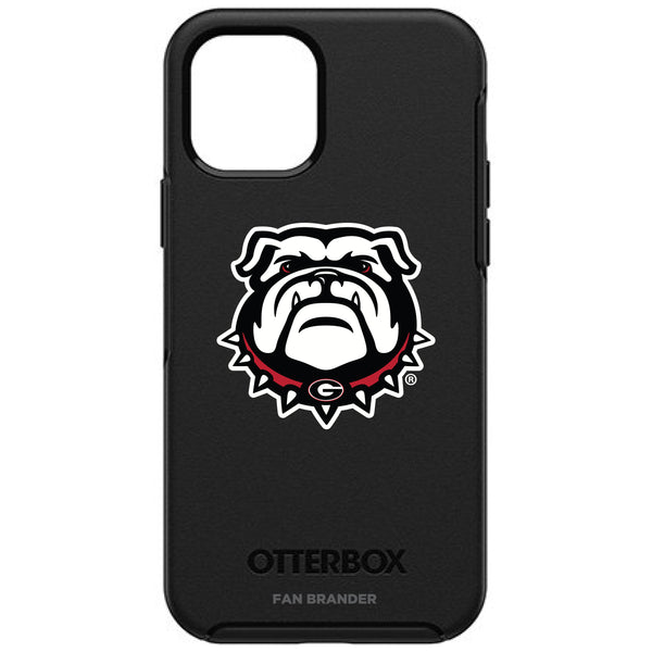 OtterBox Black Phone case with Georgia Bulldogs Secondary Logo
