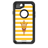 OtterBox Black Phone case with Arizona State Sun Devils Primary Logo and Striped Design