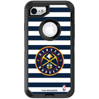 OtterBox Black Phone case with Denver Nuggets Primary Logo and Striped Design