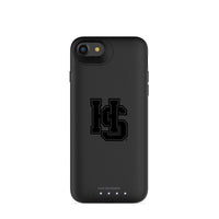 mophie Juice Pack Air battery phone case with Hampden Sydney Primary Logo in Black