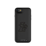 mophie Juice Pack Air battery phone case with Lehigh Mountain Hawks Primary Logo in Black
