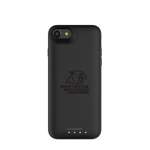 mophie Juice Pack Air battery phone case with Northern Michigan University Wildcats Primary Logo in Black