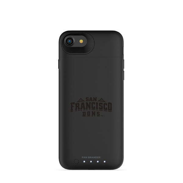 mophie Juice Pack Air battery phone case with San Francisco Dons Primary Logo in Black