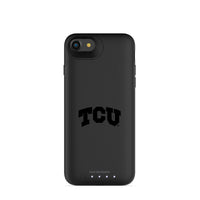 mophie Juice Pack Air battery phone case with Texas Christian University Horned Frogs Primary Logo in Black