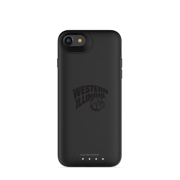 mophie Juice Pack Air battery phone case with Western Illinois University Leathernecks Primary Logo in Black