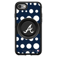 OtterBox Otter + Pop symmetry Phone case with Atlanta Braves Polka Dots design