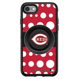 OtterBox Otter + Pop symmetry Phone case with Cincinnati Reds Polka Dots design