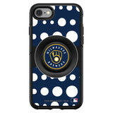 OtterBox Otter + Pop symmetry Phone case with Milwaukee Brewers Polka Dots design