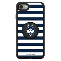 OtterBox Otter + Pop symmetry Phone case with Uconn Huskies Primary Logo and Striped Design