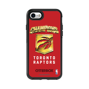 OtterBox Black Phone case with Toronto Raptors Championship Design