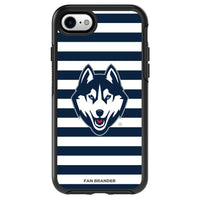 OtterBox Black Phone case with Uconn Huskies Stripes Design