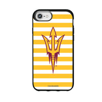 Speck Black Presidio Series Phone case with Arizona State Sun Devils Primary Logo and Striped Design
