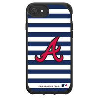 Speck Black Presidio Series Phone case with Atlanta Braves Striped Design