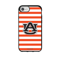 Speck Black Presidio Series Phone case with Auburn Tigers Primary Logo and Striped Design