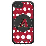 Speck Black Presidio Series Phone case with Arizona Diamondbacks Primary Logo with Polka Dots