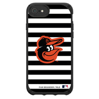 Speck Black Presidio Series Phone case with Baltimore Orioles Striped Design