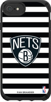 Speck Black Presidio Series Phone case with Brooklyn Nets Striped Design