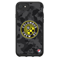 Speck Black Presidio Series Phone case with Columbus Crew SC Urban Camo Background