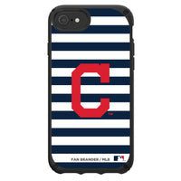 Speck Black Presidio Series Phone case with Cleveland Indians Striped Design