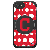 Speck Black Presidio Series Phone case with Cleveland Indians Primary Logo with Polka Dots
