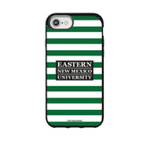Speck Black Presidio Series Phone case with Eastern New Mexico Greyhounds Primary Logo and Striped Design