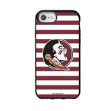 Speck Black Presidio Series Phone case with Florida State Seminoles Primary Logo and Striped Design