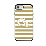 Speck Black Presidio Series Phone case with Georgia Tech Yellow Jackets Primary Logo and Striped Design